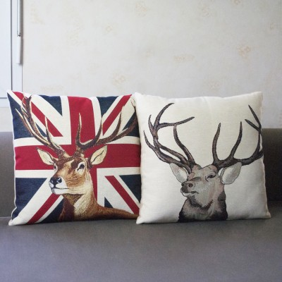 coussin cerf anglais nature