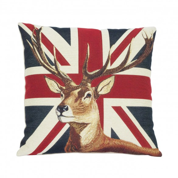 cerf anglais coussin