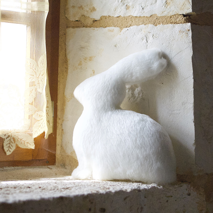 coussin lapin deco