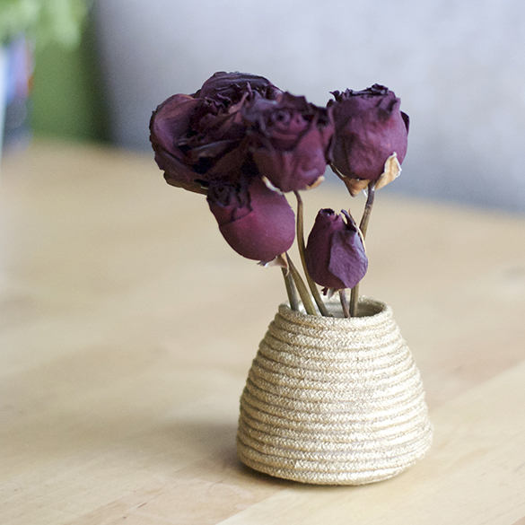 vase fleurs deco table home diy handmade